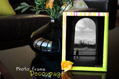 photo frame decoupage