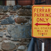 Ferrari parking only!