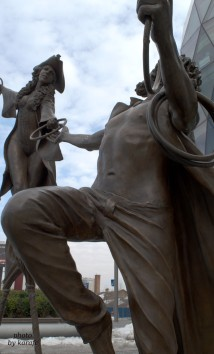 Olga and Pat, Eurovea Statue, Bratislava, Slovakia
