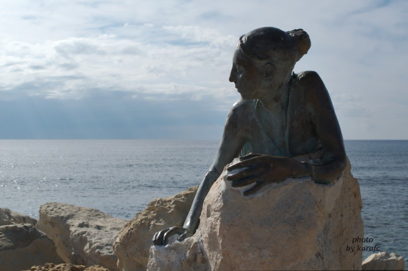 """Sol Alter"", bronze sculpture, Pafos, Cyprus"