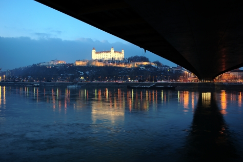 Under the New Bridge - 'Novy Most' in Bratislava, Slovakia